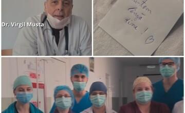 Mesajul emoționant al medicului care a vindecat cei mai mulți români de Covid-19. VIDEO