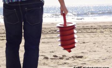 Solutia perfecta ca sa nu vi se fure portofelul si telefonul pe plaja. Un american a inventat seiful de vacanta