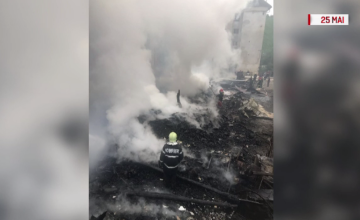 Incendiul care a mistuit mai multe magazii de lemne din Baia Mare, pus intenționat din răzbunare