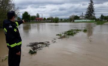 Avertizare hidrologică cod galben de inundaţii pe râuri din mai multe judeţe