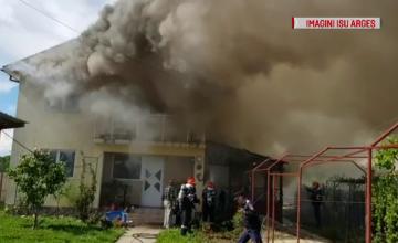 Un apicultor din Argeș și-a incendiat din greșeală propria casă. \