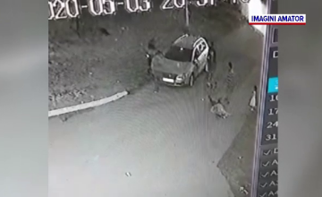 Bărbat în comă, după ce a fost lovit de față cu soția și copilul. Agresiunea a fost filmată