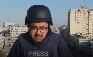 O clădire din Gaza a fost bombardată și s-a prăbușit în timpul transmisiunii unui reporter BBC. VIDEO