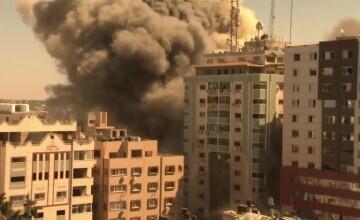 Sediul agenției de presă Associated Press şi al postului Al Jazeera din Gaza, distruse de o rachetă