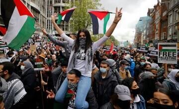 Manifestație propalestiniană cu mii de persoane la Londra. \