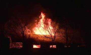 """Oamenii din Târgoviște atenționați prin RO-ALERT în timpul incendiului de joi. """"Murim cu toţii aici!"""""""