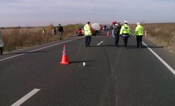 Doua vieti au fost curmate si patru persoane au fost ranite grav intr-un accident pe DN6