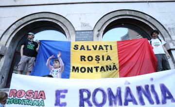 Aproximativ 7000 de persoane care se opun proiectului de la Rosia Montana au protestat in Bucuresti
