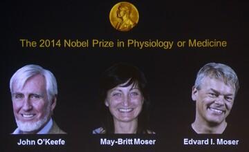 PREMIUL NOBEL pentru MEDICINA acordat in 2014 lui John O\'Keefe, May-Britt si Edvard Moser pentru descoperirea GPS-ului intern