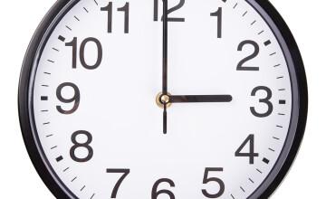Cand se schimba ora? Ziua cea mai scurta din an, in care ora 3:00 devine 4:00