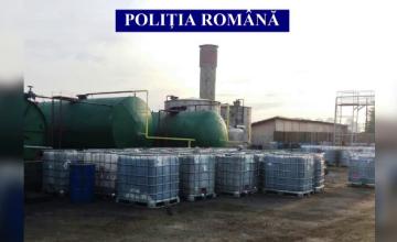 Reciclarea uleiului toxic, metodă de a păcăli statul. Ce au descoperit polițiștii