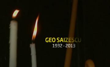 Geo Saizescu a fost inmormantat cu onoruri militare. \