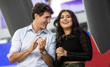 Justin Trudeau, criticat pentru că a îmbrățișat-o pe Bianca Andreescu. GALERIE FOTO
