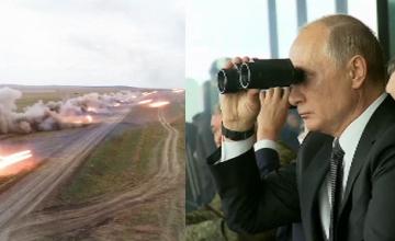 """Reacția lui Putin la simularea unui război după o """"invazie teroristă"""" în Rusia. VIDEO"""