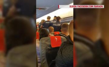 Stewardesă lovită de un pasager, la bordul unui avion Blue Air. Ce s-a întâmplat cu agresorul