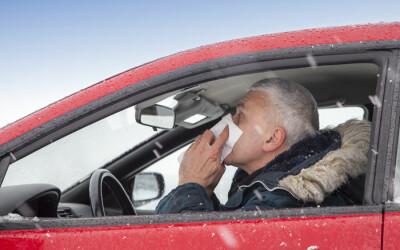 Studiu: De ce este periculos sa conduci masina atunci cand esti racit: