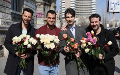 Actorii serialului VLAD au împărțit flori de 8 martie