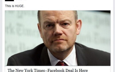 This is HUGE. Marile ziare incep sa publice articole direct pe Facebook: