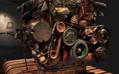 N-o sa-ti vina sa crezi din ce e construit motorul asta! Are 200 de componente si niciun pic de metal!