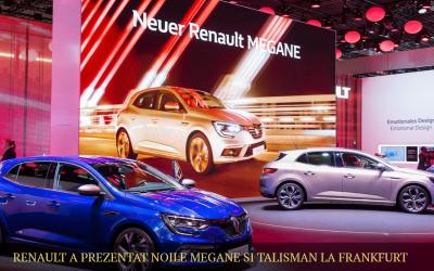 Renault a prezentat noile Megane si Talisman la Frankfurt