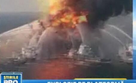 explozie, platforma petroliera