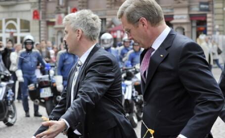 Presedintele Germaniei Christian Wulff (dreapta)