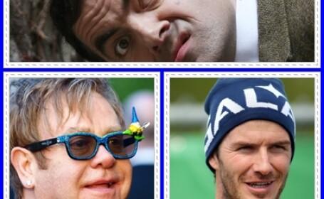 David Beckham, Elton John si Rowan Atkinson