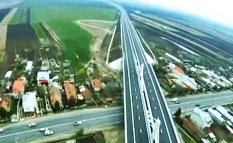 Autostrada Bucuresti-Ploiesti vazuta din avion