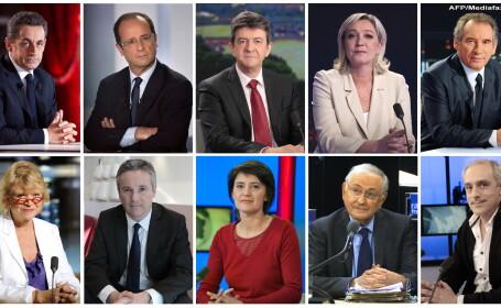 Candidati la alegerile prezidentiale din Franta 2012