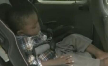 Au furat masina cu copilul adormit pe bancheta din spate. Cand au vazut ce-au facut s-au speriat
