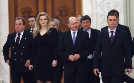 Traian Basescu, Mihai Razvan Ungureanu si membri ai PDL