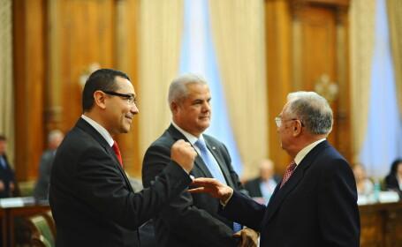 Victor Ponta, Ion Iliescu si Adrian Nastase