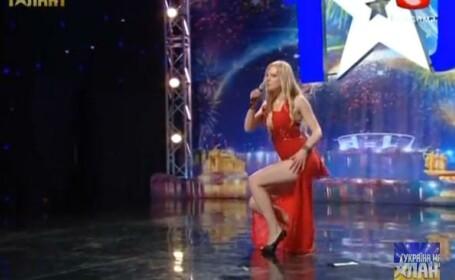 """""""Nu sunteti pregatiti pentru talentul meu"""". Ce a facut o concurenta la Ucraina are talent"""
