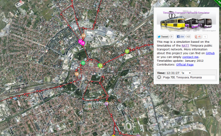 Cum poti vedea traseul mijloacelor de transport, in timp real. Super proiectul unui elev timisorean