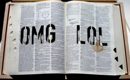 carte, dictionat, LOL, OMG
