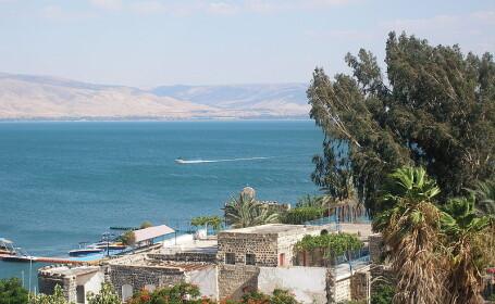 FOTO. O structura gigantica, descoperita sub apele Marii Galileei, unde a predicat Iisus