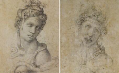 Portretul misterios al lui Michelangelo: cine a realizat varianta grotesca a Cleopatrei
