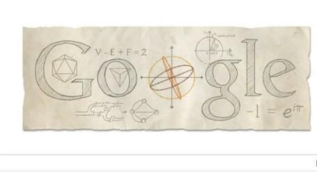 Leonhard Euler, unul dintre cei mai mari matematicieni din istorie, celebrat printr-un Google Doogle