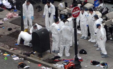 Capacul unei oale utilizate in comiterea atentatului de la Boston, gasit pe acoperisul unui hotel