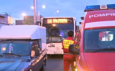 accident, autobuz RATB