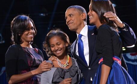 Barack Obama, Michelle Obama si copiii lor