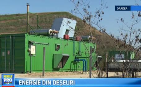 O instalatie de jumatate de milion de euro va transforma biogazul emanat de deseuri in energie electrica, la Oradea. VIDEO
