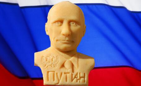 Sapunul Putin fabricat in Romania. Presedintele Rusiei face clabuc si mai e si 100% natural
