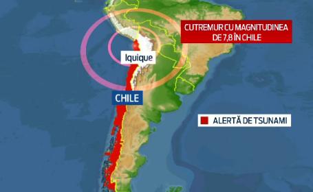 Replica cu magnitudinea de 7,8 in Chile, dupa cutremurul de 8,2. Presedinta tarii a fost evacuata