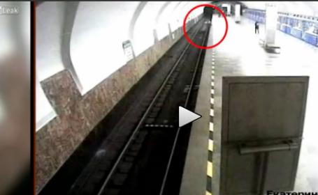 Momentul in care o rusoaica isi impinge copilul in fata metroului. Explicatia bulversanta data autoritatilor. VIDEO