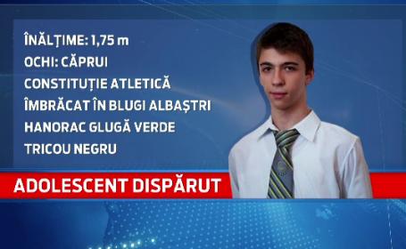 Adolescent disparut