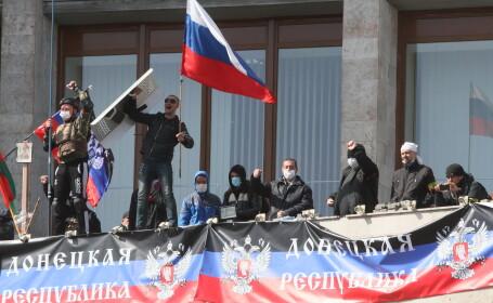 Manifestantii prorusi din Donetk