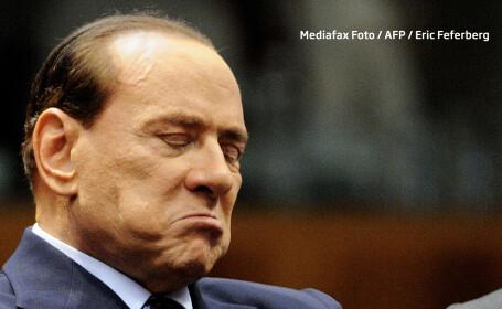 Silvio Berlusconi trist si suparat