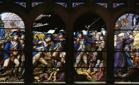 vitraliu reprezentand un masacru in Vandeea
