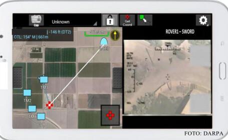 aplicatie Android pentru comandat bombardament
